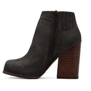Jeffrey Campbell HANGER Heeled Ankle Boot Charcoal